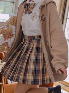 Teen Fashion Outfits, Mode Outfits, Retro Outfits, Cute Casual Outfits, Girl Outfits, Cute Outfits With Skirts, Chic Outfits, Kawaii Fashion, Lolita Fashion