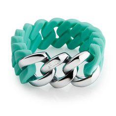 The Rubz Pastel Cool Mint & Silver Bracelet - Free Australian Delivery – AlsoKnownAs.com.au - Australian Lifestyle Store