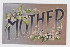 Old vintage antique Mother's Day postcard card by GalabeerandtheDog, on Etsy.