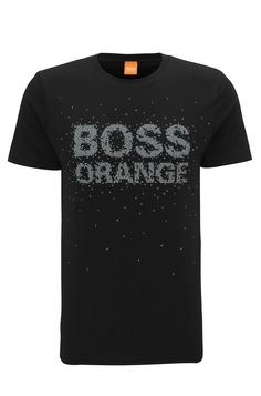 Regular-fit cotton T-shirt with reworked logo print Sport Design, Tee Design, Camiseta Armani Exchange, T Shart, Mens Tee Shirts, Hugo Boss, Oasis, Orlando, Fox
