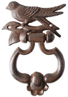 Esschert Design USA Bird Silhouette Door Knocker: Add a touch of charm to your doorway with this cast iron bird door knocker. This design will leave an impression on all guests that arrive.