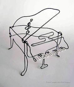 LaVern David Thompson Art Studio: Piano Wire Sculpture