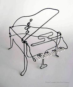 LaVern David Thompson Art Studio: Piano Wire Sculpture
