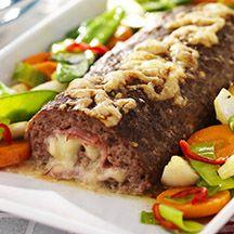 Patricks köttfärsrulle med ost och skinka! En god och matig rätt.
