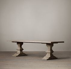 Oh no another possibility! Sort of like the trestle one but no extension option.   Dumont Rectangular Dining Table