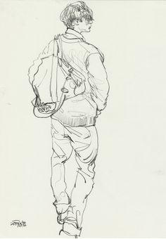 skizzen zeichnen - Famous Last Words Human Drawing, Life Drawing, Drawing Sketches, Painting & Drawing, Figure Sketching, Figure Drawing, Arte Indie, Arte Sketchbook, Anatomy Art