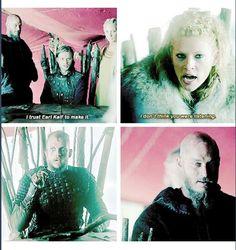 Vikings. Eehehehehehehe, they're both like, aww son you done it now. They KNOW.