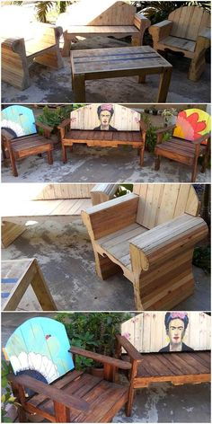 Reusing wood pallet is economical as well environmentally healthy activity. Wood Pallet Bar, Wood Pallet Planters, Diy Pallet Wall, Pallet Patio Furniture, Wooden Pallet Projects, Furniture Projects, Furniture Layout, Pallet Ideas, Recycled Pallets
