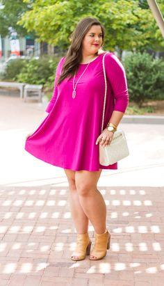 flirty fuchsia swing dress