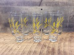 Vintage Wheat Glasses Set of 8, Water Glasses with Wheat Design, Golden Wheat, Gold Wheat Glasses by thisoldnest on Etsy https://www.etsy.com/listing/472036325/vintage-wheat-glasses-set-of-8-water