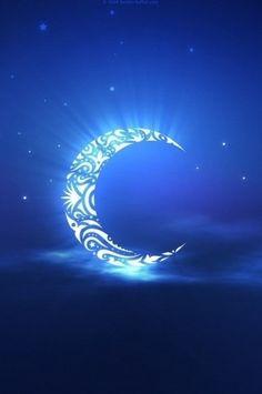 Tribal tattoo moon