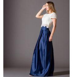 Φούστα Σατέν Μακριά - Μπλε-Navy My Style, Skirts, Fashion, Moda, Fashion Styles, Skirt, Fasion, Skirt Outfits
