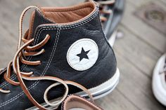 To know more about CONVERSE Leather / sneakers, visit Sumally, a social network that gathers together all the wanted things in the world! Featuring over other CONVERSE items too! Leather Converse, Converse Shoes, Men's Shoes, Shoe Boots, Black Converse, Nike Outfits, Converse All Star, Converse Chuck Taylor, Converse Classic