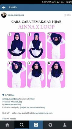 instAnt Shawl Hijab Style Tutorial, Pashmina Hijab Tutorial, Turban Hijab, How To Wear Hijab, Instant Hijab, Couture, Head Scarf Styles, Muslim Dress, Islamic Clothing