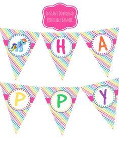 My Little Pony Happy Birthday Banner Printables