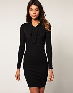 ASOS Pencil Dress with Pussybow