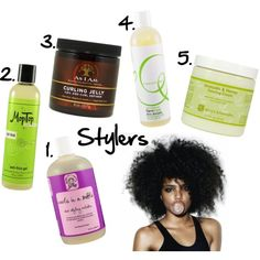 Natural Hair Summer Stylers by kinksarethenewpink, via Polyvore