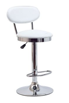 Retro Bar Stool in White (EEI-636-WHI). Ahead of its time, the Retro Bar Stool of the 1950s is a timeless piece of intrigue for all generations. Known for its simple vision and drive for advancement, this work is a classic brimming with buoyancy and rich experiences. Extraordinary qualities abound from a time when things were a lot more simple and direct. Set Includes: One - Retro Bar Stool. #barstools #furniture #homedecor