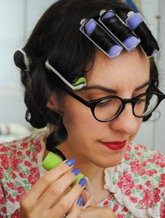 A fast roller set for everyday vintage hair | by gum, by golly!