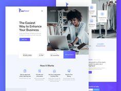PayFriend - Business Lending Service designed by Alex Capellan. Web Layout, Layout Design, Ui Design, Resume Design, Graphic Design, Web Design Trends, Web Design Inspiration, Design Ideas, Loans Today