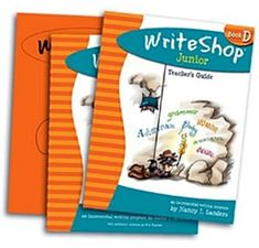This Book D SET includes all three components of WriteShop Junior Book D: Teacher's Guide Activity Pack w/Fold-N-Go Grammar Time-Saver Pack Homeschool Curriculum Reviews, Writing Curriculum, Teaching Writing, Teaching Grammar, Teaching Ideas, Writing Games, Cool Writing, Writing Lessons, Writing Ideas