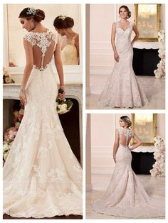 New A-Line wedding dresses open back wedding dress 2019 long sleeve gorgeous wedding dresses 2019 Straps Sweetheart Neckline Lace Wedding Dress with Illusion Back Popular Wedding Dresses, Wedding Dresses With Straps, Wedding Dress Trends, Elegant Wedding Dress, Perfect Wedding Dress, Bridal Wedding Dresses, Wedding Dress Styles, Trendy Wedding, Wedding Dressses
