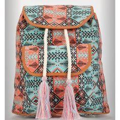 NWT Twig & Arrow Tribal style backpack w/ tassel NWT Tassel Twig & Arrow Tribal style backpack teal and orange Bags Backpacks