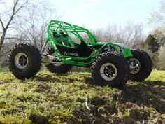 """southern buggy..""""headcase""""  Rc4wd wraith axles  Rc4wd dual coilover shocks  proline sx swampers 2.2  gearhead rc trail kings beadlocks 2.2"""