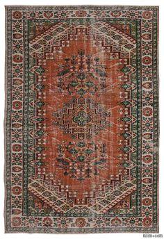 K0011360 Turkish Vintage Rug   Kilim Rugs, Overdyed Vintage Rugs, Hand-made Turkish Rugs, Patchwork Carpets by Kilim.com