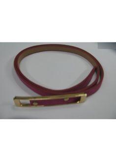 Sleek Pink skinny waist belt
