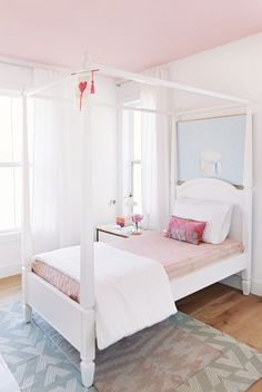 Dream Home: An All American Modern FarmhouseBECKI OWENS This all American modern white farmhouse is simple, functional, and beautiful with warm woods, brass lighting, and a clean white kitchen. - BECKI OWENS- Dream Home: An All American Modern Farmhouse Girls Bedroom Furniture, Kids Bedroom Sets, Trendy Bedroom, Bedroom Decor, Bedroom Ideas, Kids Room, Bedroom Ceiling, Pink Bedroom Design, Bedroom Designs