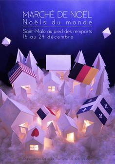 AGR, l'école de l'image: AFFICHE marché de Noël de SAINT-MALO