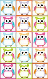 (Free Owl Label Templates) Back to School,Classroom,Classroom ideas,Fourth Grade, Owl Theme Classroom, Preschool Classroom, Classroom Teacher, Owl Preschool, Classroom Ideas, Classroom Birthday, Classroom Labels, Owl Templates, Label Templates