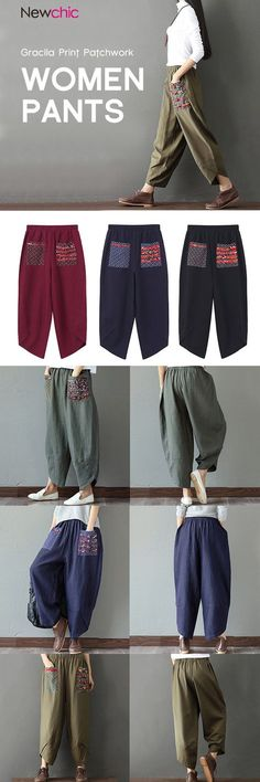 US$ 28.23 Casual Print Patchw