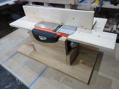 Plaina Invertida, aproveitando bocados de madeira