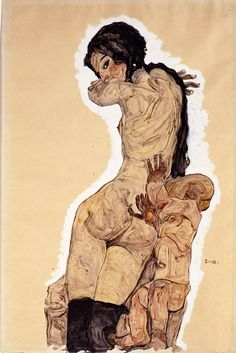 'Woman with Homunculus' — Egon Schiele