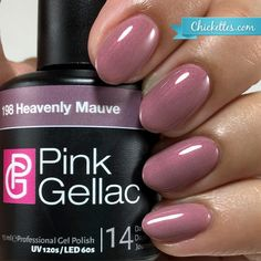 nails.quenalbertini: Pink Gellac 'Heavenly Mauve' | Chickettes