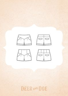 chataigne shorts by deer and doe