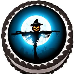 Pumpkin Scarecrow Halloween Edible Cake Topper | My Party Helpers | http://mypartyhelpers.com/products/pumpkin-scarecrow-halloween-edible-cake-topper