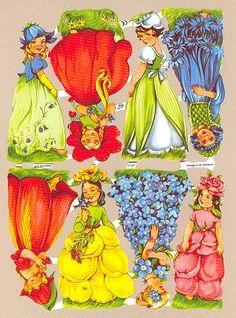 Kiiltokuvat kukkakeijut Childhood Toys, Childhood Memories, Fairy Land, Fairy Tales, Paint Paint, We Are Young, Note Paper, Scrapbooking, Paper Dolls