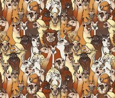 Llamas fabric by jadegordon on Spoonflower - custom fabric
