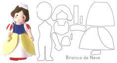 Patrones de fieltro gratis para hacer muñecos de Blancanieves y enanitos