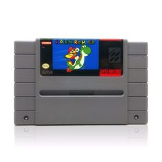 Super Mario World SNES Super Nintendo game, includes cartridge only. Cleaned, tested and comes with a FREE cart protector! Super Nintendo Console, Super Nintendo Games, Super Mario World, Nintendo Consoles, Games To Play