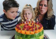Fruit birthday cake idea.