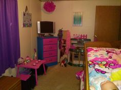 Another side of their finished room.