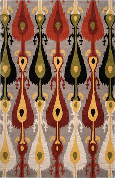 Gorgeous ikat rug from Surya..loved their showroom when I used to go to High Point Market!