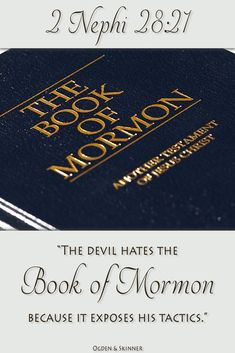 Did you know the Book of Mormon teaches us how to avoid the devil's tactics more than any other book? Learn how much we can gain from just one chapter in the Book of Mormon! http://www.knowhy.bookofmormoncentral.org/content/how-does-the-devil-lead-us-astray #Devil #Satan #Christ #Jesus #Mormon #LDS #BookofMormon #Knowhy
