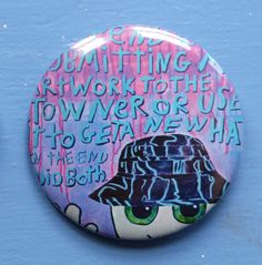Large Dweebling ME badge with Hat / button / pin 2 1/4 inches 6cm by Dweeblings on Etsy Badge, Buttons, Etsy, Badges, Button, Knots, Plugs