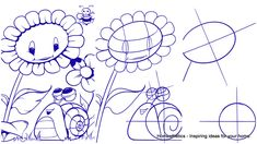 """A splendid illustration containing one snail and sunflower depicts the natural environment in all its beauty. The tutorial """"Learn How to Draw a Sunflower and a Snail """"that follows is the fourthpart of ourCool Things to Draw Collectionthat we highly encourage you to visit if you`re interested in sketching and drawing. More information about sunflowers,Read more"""