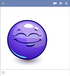 A bold hue lends eye-catching appeal to this emoji. You can share it with a pal or two on Facebook.